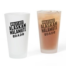 Worlds Best Alaskan Malamute Dad Drinking Glass