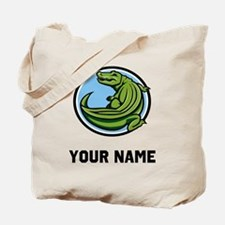 Green Alligator Tote Bag