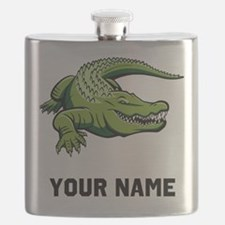 Green Alligator Flask