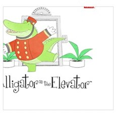Alligator in the Elevator Poster