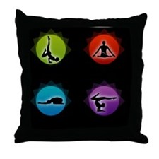 Lotus massage Throw Pillow