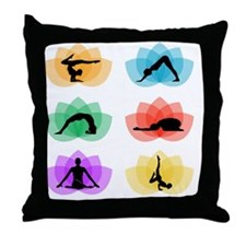 Funny Lotus massage Throw Pillow