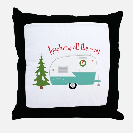 Laughing All The Way Throw Pillow