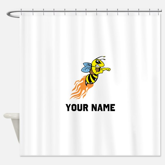 Bee Mascot Shower Curtain