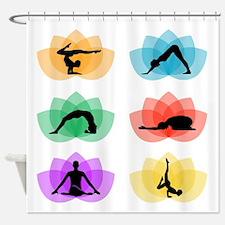 Funny Lotus massage Shower Curtain