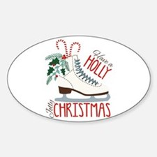 Holly Christmas Decal
