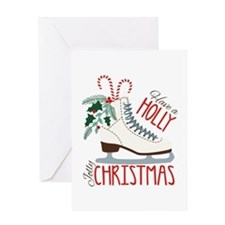 Holly Christmas Greeting Cards