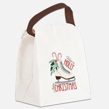 Holly Christmas Canvas Lunch Bag