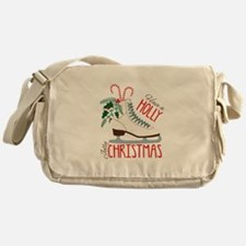 Holly Christmas Messenger Bag