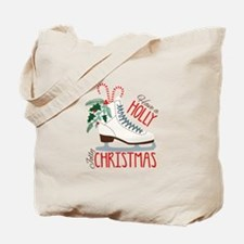 Holly Christmas Tote Bag
