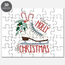 Holly Christmas Puzzle