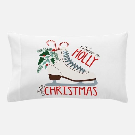 Holly Christmas Pillow Case