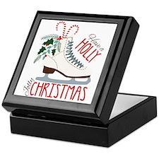 Holly Christmas Keepsake Box