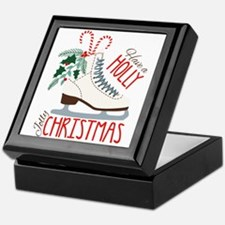 Holly Christmas Keepsake Box