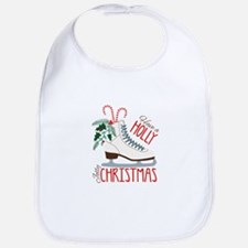 Holly Christmas Bib
