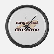 North Carolina Estimator Large Wall Clock