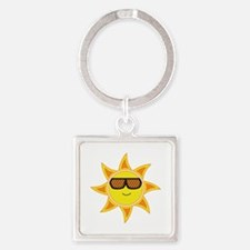 Sun With Glasses Keychains