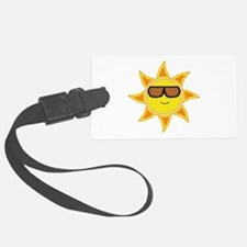 Sun With Glasses Luggage Tag