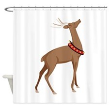 Christmas Reindeer Shower Curtain