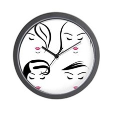Funny Straight face Wall Clock
