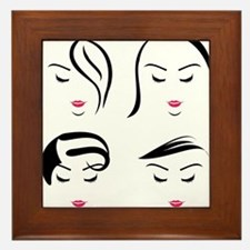 Unique Hair salon Framed Tile