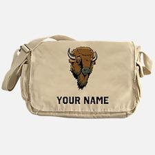 Buffalo Head Messenger Bag