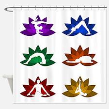 Lotus massage Shower Curtain