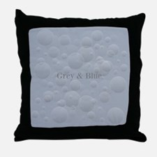 Chic Ice Blue Throw Pillow