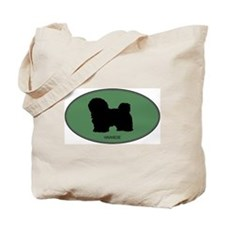 Havanese (green) Tote Bag