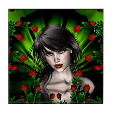 EMERALD ROSE GARDEN Tile Coaster