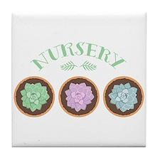 Succulent Nursery Tile Coaster