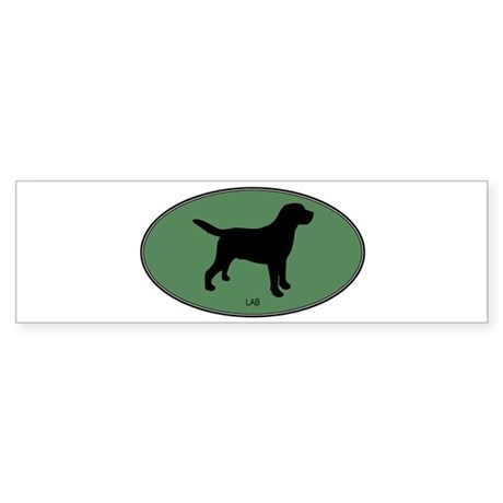 Lab (green) Bumper Sticker