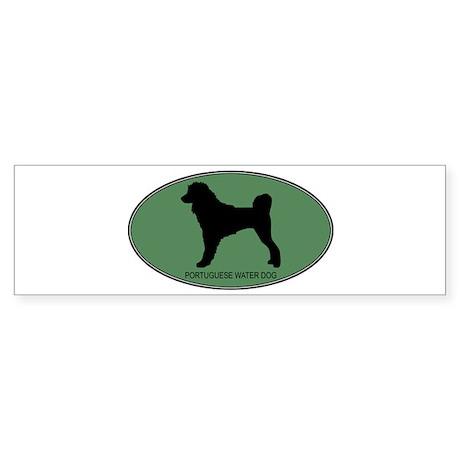 Portuguese Water Dog (green) Bumper Sticker
