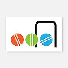 Croquet Balls Rectangle Car Magnet
