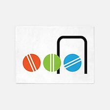 Croquet Balls 5'x7'Area Rug