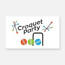 Croquet Party Rectangle Car Magnet