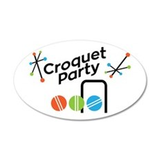 Croquet Party Wall Decal