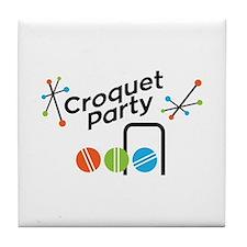 Croquet Party Tile Coaster