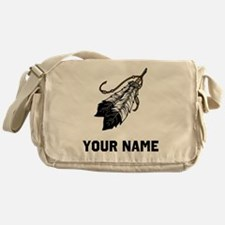 Native American Feathers Messenger Bag