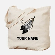 Native American Feathers Tote Bag