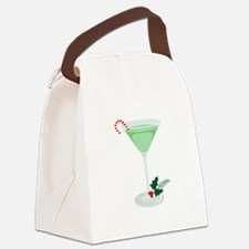Peppermint Cocktail Canvas Lunch Bag