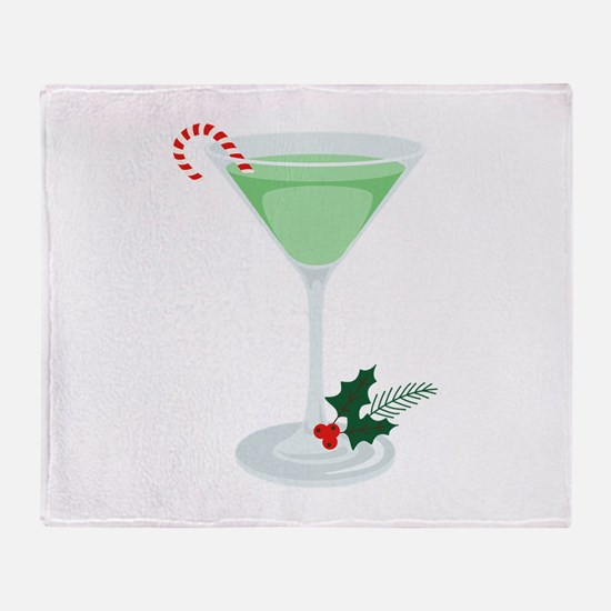 Peppermint Cocktail Throw Blanket