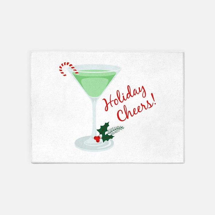 Holiday Cheers 5'x7'Area Rug