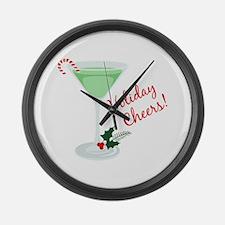 Holiday Cheers Large Wall Clock