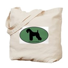 Kerry Blue Terrier (green) Tote Bag