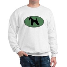 Kerry Blue Terrier (green) Sweatshirt