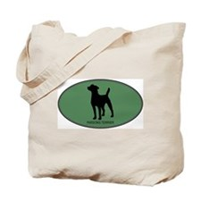 Parsons Terrier (green) Tote Bag
