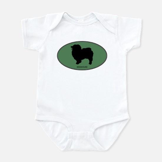 Keeshound (green) Infant Bodysuit