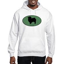 Keeshound (green) Hoodie