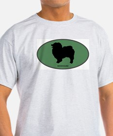 Keeshound (green) T-Shirt